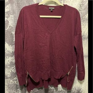 Express Front Zip Sweater